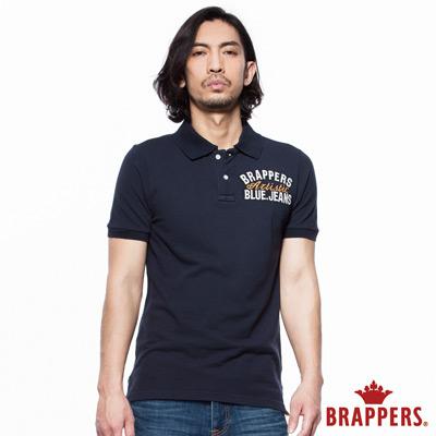 BRAPPERS 男款 美式短袖POLO衫-藍