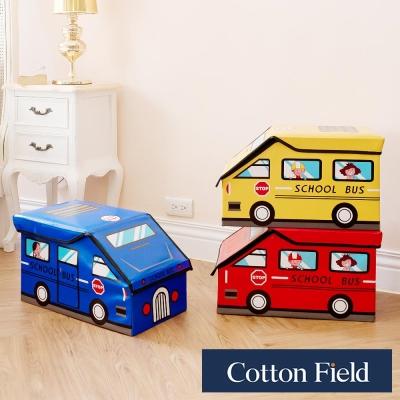 棉花田 Bus咘咘 立體汽車造型摺疊收納凳(3色可選)