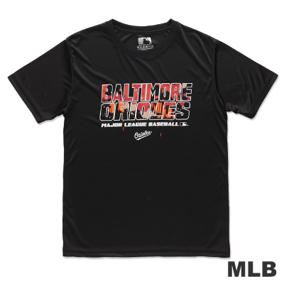 MLB-巴爾的摩金鶯隊潑墨款造型短袖T恤-黑(男)