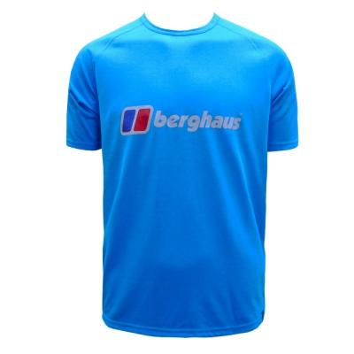 【Berghaus 貝豪斯】男款銀離子LOGOT恤S04M80-藍