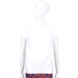 SEE BY CHLOE 白色荷邊造型短袖上衣