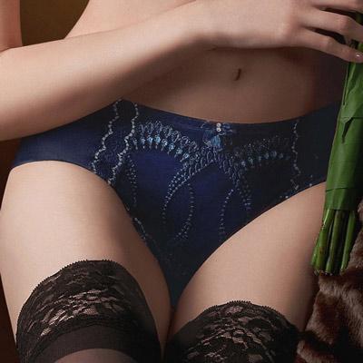 華歌爾-伊珊露絲印象巴黎M-LL中腰平口褲-暗夜藍