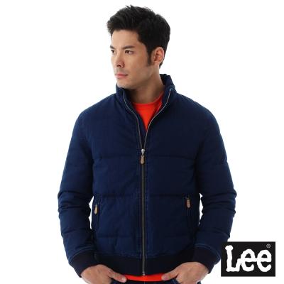 Lee Regional羽絨外套80%羽絨後身有印花圖騰 -男款-藍色