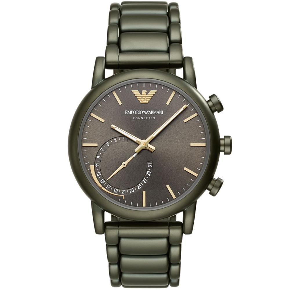 Emporio Armani CONNECTED 智慧型手機連線手錶-銀灰/43mm