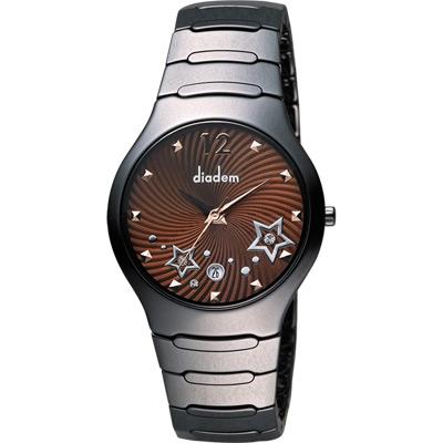 Diadem 黛亞登 浪漫星空陶瓷腕錶-咖啡x黑/38mm