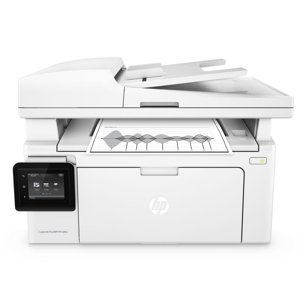HP LaserJet Pro  M130fw 黑白無線WiFi 傳真四合一觸控螢幕雷射印表機