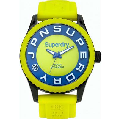 Superdry極度乾燥Tokyo休閒潮流時尚腕錶-藍X綠/45mm