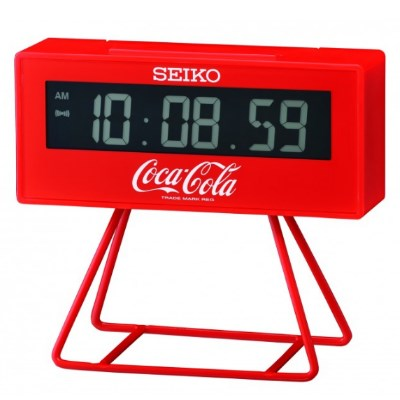 SEIKO 日本精工 可口可樂 電子鐘 鬧鐘(QHL901R)-紅/9.3X10.4cm