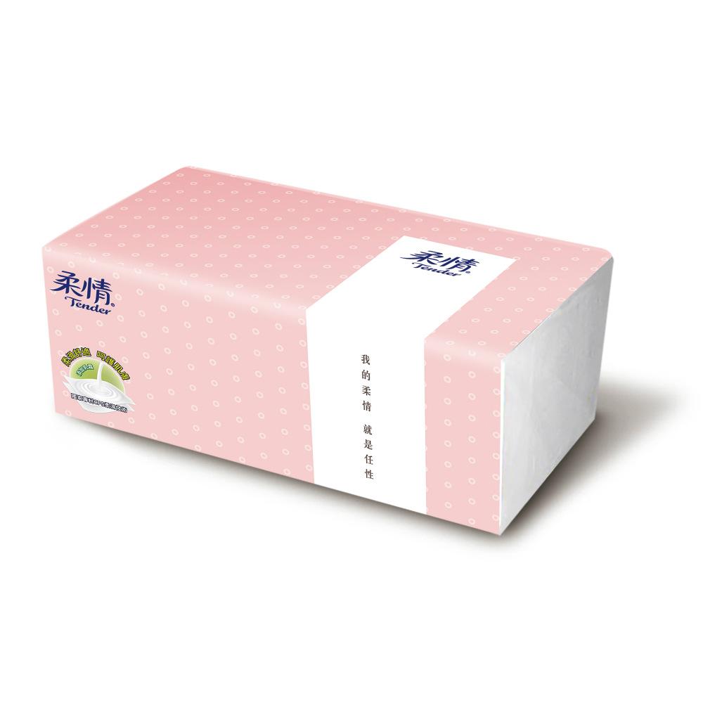 (每筆訂單限購1)柔情抽取式衛生紙100抽/包-馬卡龍版(顏色隨機出貨)