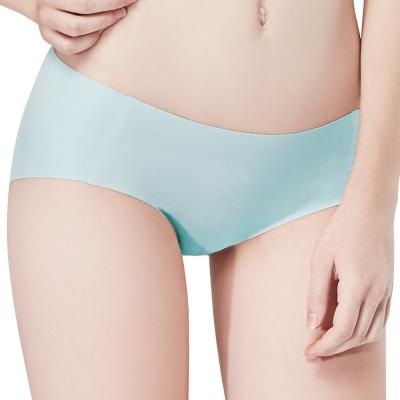 思薇爾 I LOVE U SO SOFT系列M-XXL素面低腰平口無痕內褲-瓷藍色
