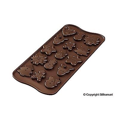 義大利製SiliKoMart巧克力/果凍/冰塊模具(聖誕iCON)