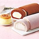 宜蘭諾貝爾  人氣熱賣組(巧克力奶凍捲+芋頭奶凍捲+燒起士)(6組)(贈購物袋)