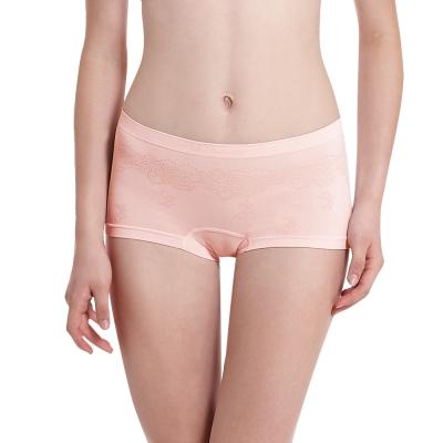 LADY 超彈力親膚無痕系列 中腰平口內褲 (粉色)