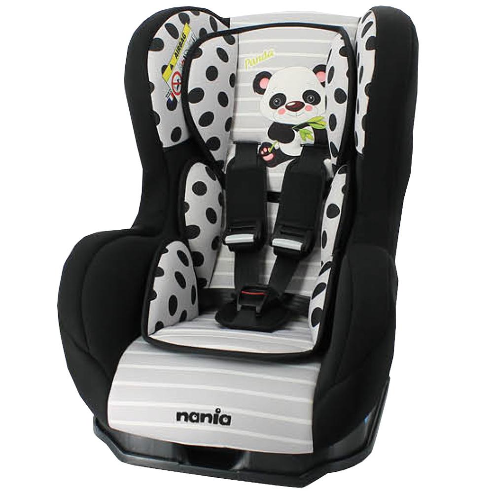 Nania 納尼亞 0-4歲安全汽座 卡通動物系列(熊貓黑)