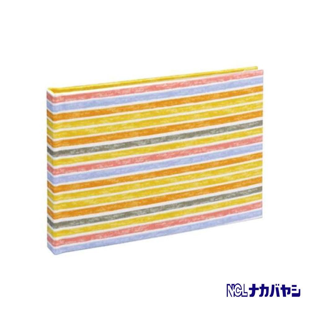 日本 Nakabayashi 自黏相本 麻布系列 條紋相本(黃)