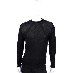 VERSACE 黑色直紋針織上衣