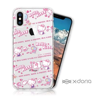 Hello Kitty iPhone X 彩繪空壓手機鑽殼 - 天真