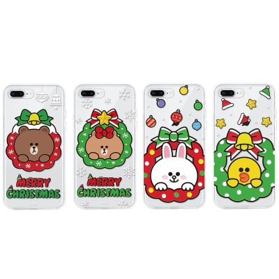 GARMMA LINE Friends iPhone 7/8+浮雕軟式保護殼-冬...