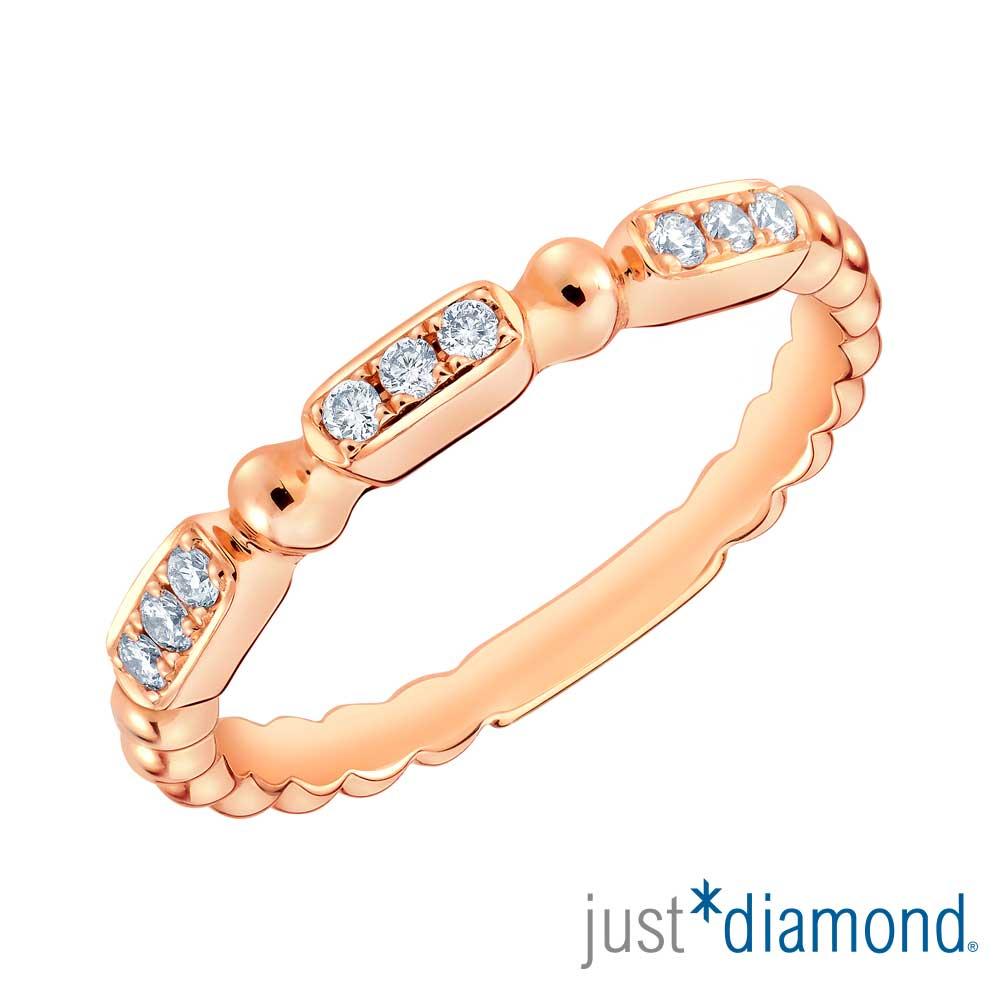 鎮金店 Just Diamond 鑽石玫瑰金 鑽戒-Rosana