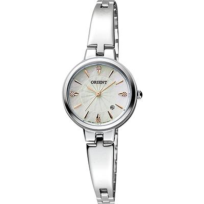 ORIENT 東方錶 DRESS系列簡約優雅石英錶-珍珠貝x銀/ 26 mm