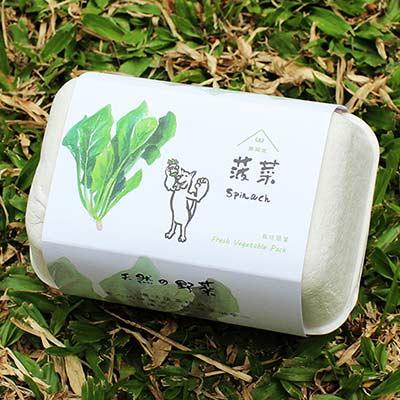青菜笠 雞蛋環保植栽盒-菠菜
