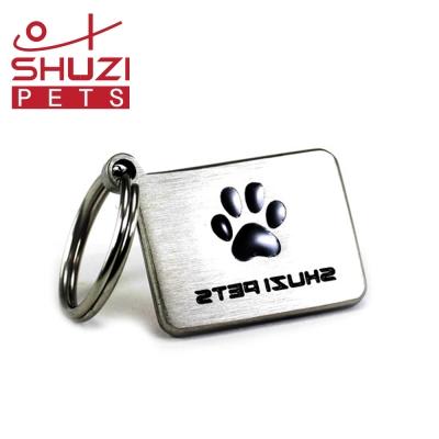 SHUZI 方型寵物名牌 - 美國製造