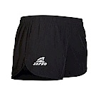 【ZEPRO】女子FUN馬拉松慢跑短褲-黑
