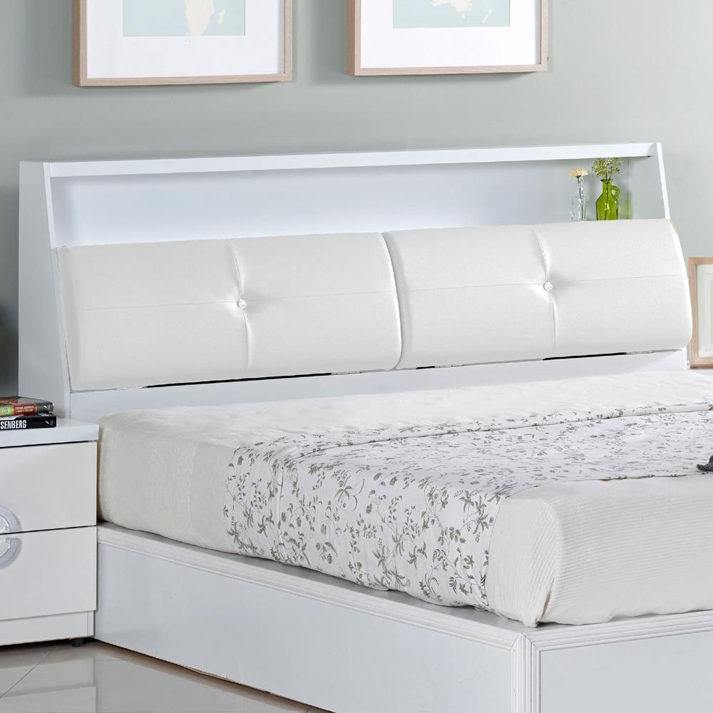 AT HOME - 凱渥5尺白色雙人床頭箱