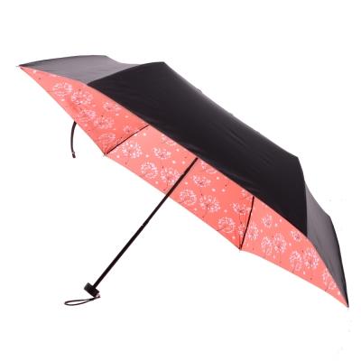 2mm 100%遮光 蒲公英黑膠輕量手開傘 (粉橘)