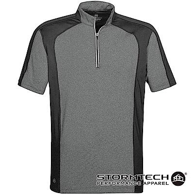 【加拿大STORMTECH】機能吸排防曬拉鍊立領衫IPZ-1-男-灰