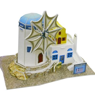 世界之窗 3D立體拼圖 希臘 -風車 3D World Style