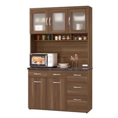 CASA卡莎-羅娜爾4尺石面組合餐櫃-收納櫃