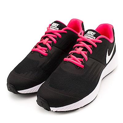 NIKE-女慢跑鞋907257001-黑桃紅