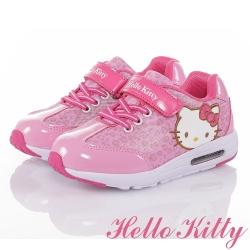 HelloKitty 蘋果豹紋系列休閒童鞋-粉