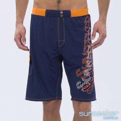 澳洲Sunseeker泳裝時尚男士快乾衝浪泳褲-深藍