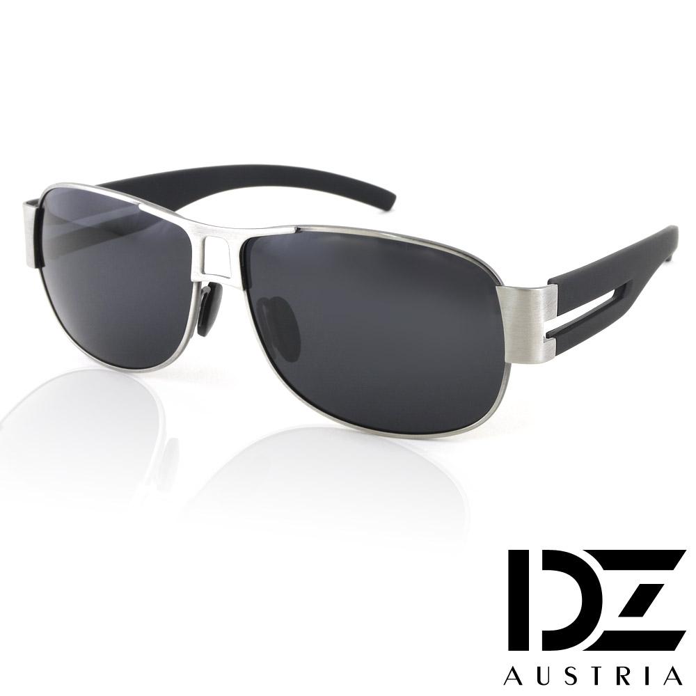 【2件59折】DZ 尊爵雅士 抗UV 偏光太陽眼鏡墨鏡(槍框灰片)