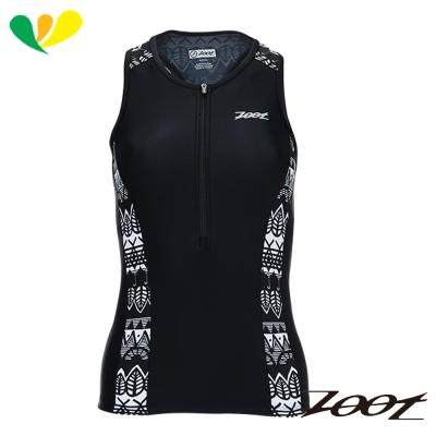 ZOOT 專業級半拉式肌能鐵人上衣(女)(圖紋黑) Z1706006
