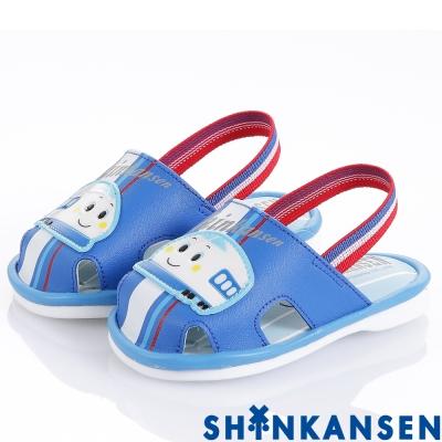 ShinKanSen新幹線 舒適減壓防滑嗶嗶學步童鞋-藍(幼童)