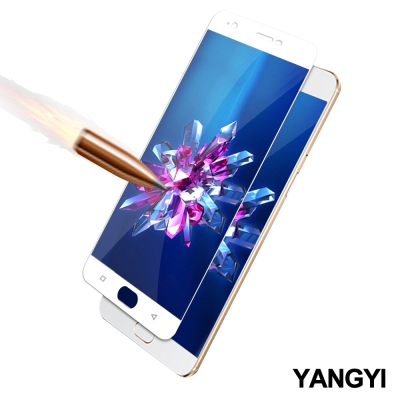 YANGYI揚邑 OPPO A57 5.2吋 滿版鋼化玻璃膜3D弧邊防爆保護貼-白