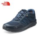The North Face男款藍色防水透氣徒步鞋
