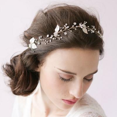 梨花HaNA-六月花嫁系列手工新娘香沁水晶頭飾髮帶