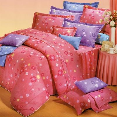 艾莉絲-貝倫 幸運小草 高級混紡棉 雙人加大鋪棉涼被床包四件組