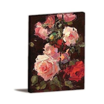 橙品油畫布-單聯式直幅 掛畫無框畫 玫瑰夫人 30x40cm