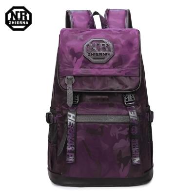 BAC03  GS紫色 NR14吋韓版時尚迷彩休閒電腦後背包