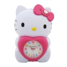 Hello Kitty凱蒂貓 擁抱愛心立體公仔LED夜燈音樂鬧鐘JM-E989-KT