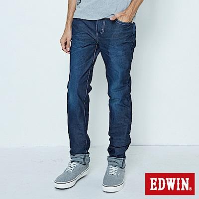 EDWIN AB褲 迦績褲JERSEYS涼感牛仔褲-男-原藍磨