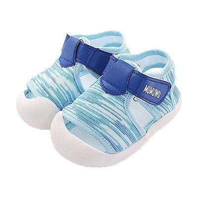 極美型魔鬼貼止滑寶寶鞋 藍 sk0440 魔法Baby