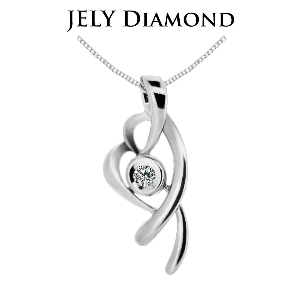 JELY 幻采流星 約3分天然真鑽項鍊