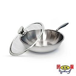 固鋼大長今御用304不鏽鋼七層複合金炒鍋組