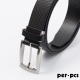 per-pcs ZIBIYA嚴選高品質皮革格紋皮帶_黑啡色(F8210B) product thumbnail 1